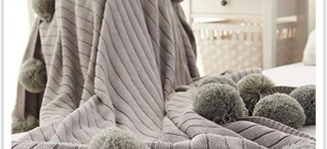 Уютный хлопковый плед для гостиной и спальни