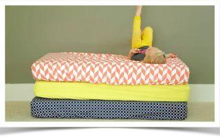 Два основных способа пошива простыни для матраса на резинке