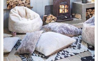 Уютные подушки на пол