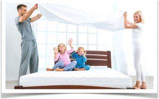 Пружинный матрас в кроватку для детей