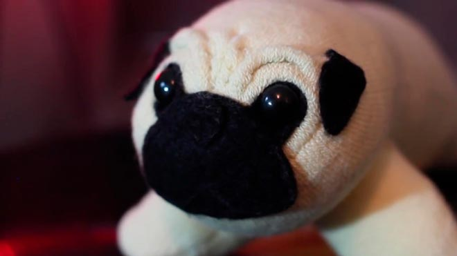 Подушка-собака из носка 23