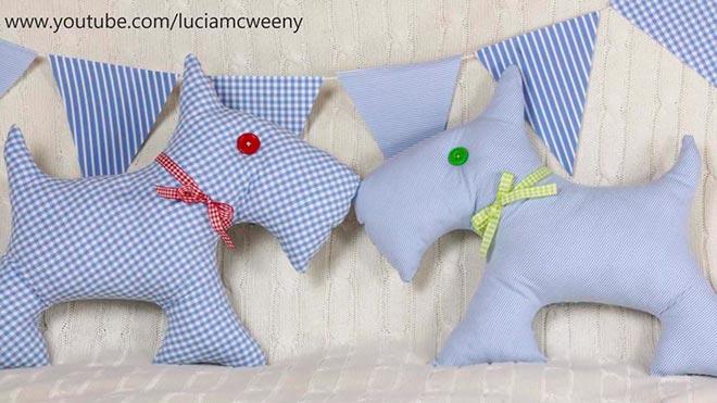 Подушка-собака из рубашки 13