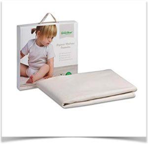 Непромокаемый детский наматрасник и упаковка