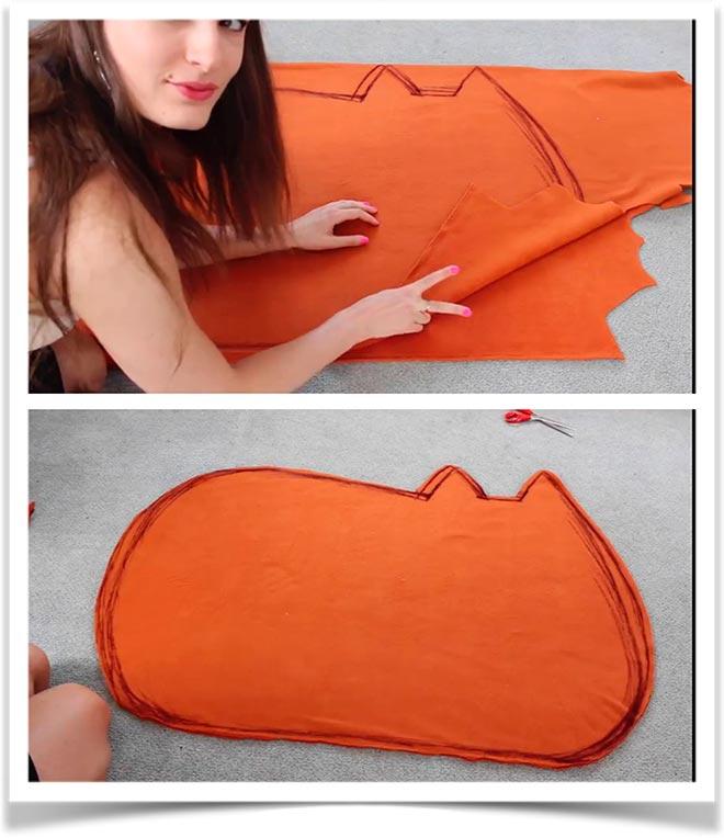 Кот подушка своими руками 2