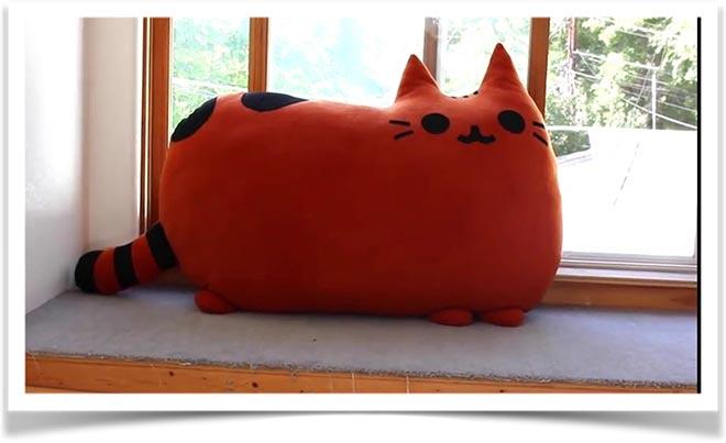 Кот подушка своими руками
