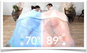 Разная температура под одеялом