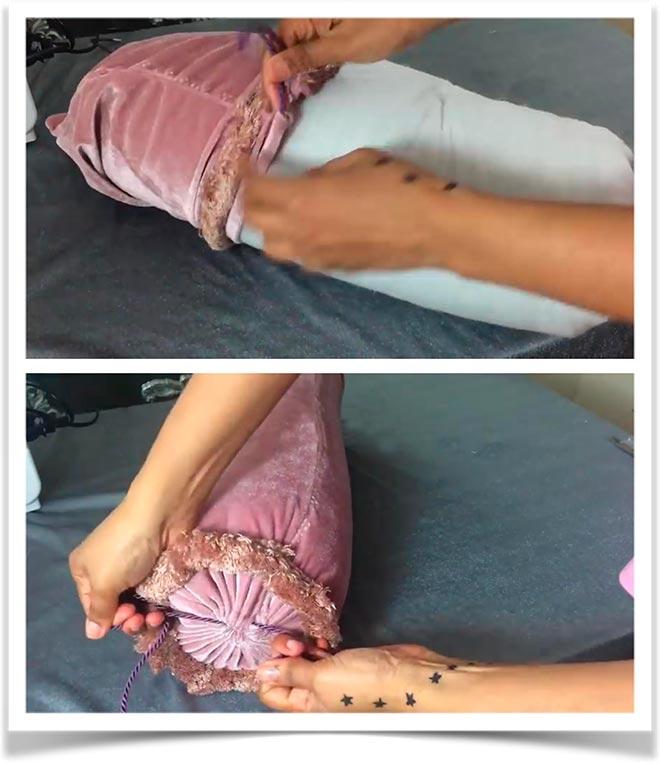 Подушка-валик своими руками 9