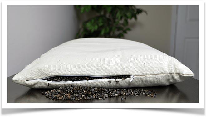 Наполнитель шелуха гречихи в подушке