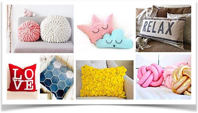 Декоративные разноцветные подушки