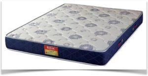Двуспальный синий матрас с узорами