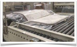 Технология упаковки матраса в рулоне