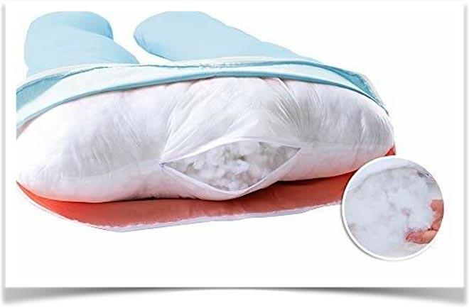 Съемная наволочна на подушке для беременной