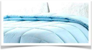Голубое одеяло двойное