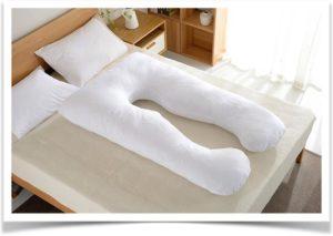 Белая u подушка для беременных