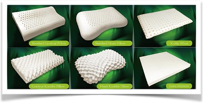 Разные подушки из латекса