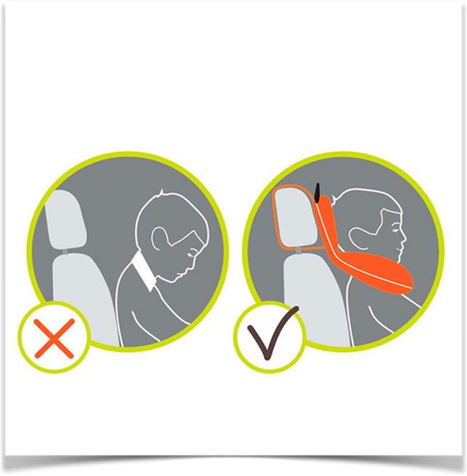 Правильное положение ребенка в машине