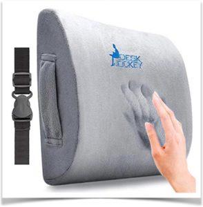 Отпечаток ладони на ортопедической подушке для кресла