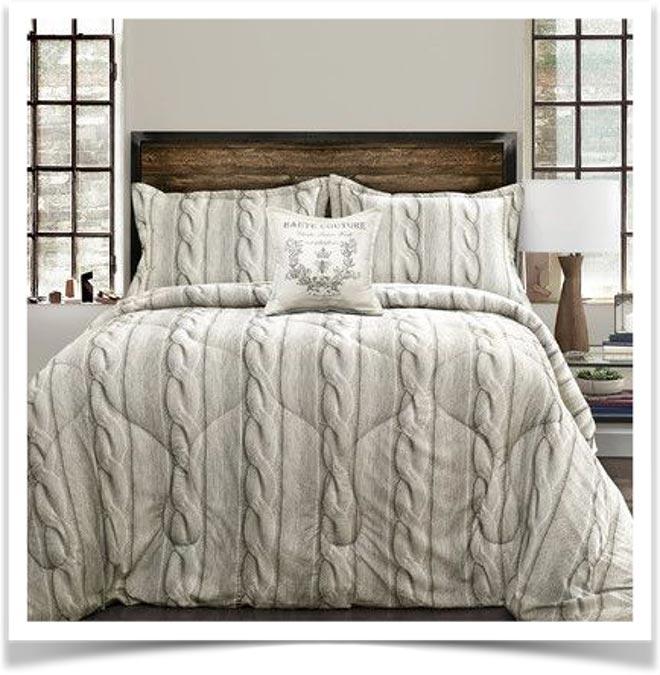 Вязанное постельное белье в стиле Прованс