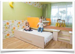 Подиум под кровать в детской