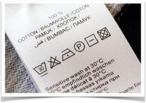 Этикетка как ухаживать за тканью из хлопка