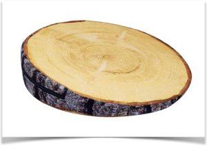 Подушка под спину в виде спила дерева