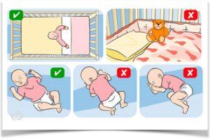 Правильная поза сна для ребенка