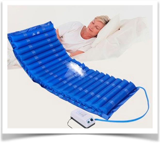 Вентилируемый синий противопролежневый матрас с компрессором