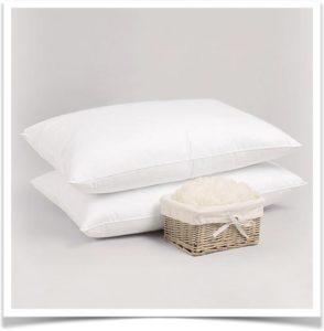 Две подушки и корзинка с наполнителем