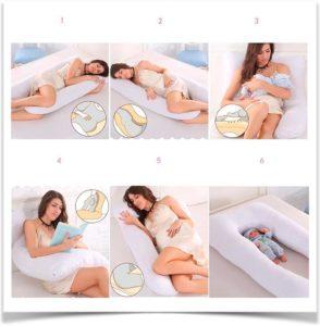 Шесть вариантов применения подушки для беременных