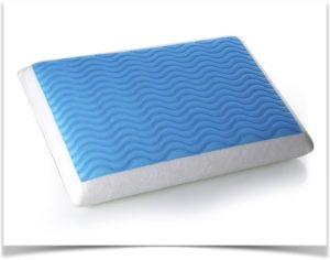 Голубая ортопедическая подушка ни основе геля