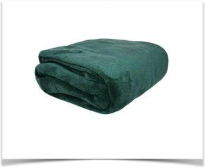 Ткань микроплюш зеленая
