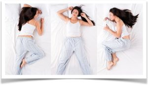Три позы для сна девушке
