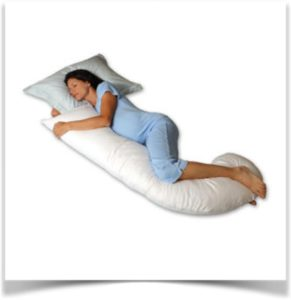 Подушка валик с беременной девушкой
