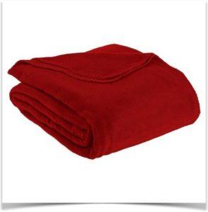 Ткань флис красная