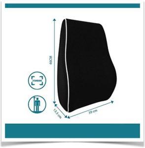 Размеры подушки под спину в сантиметрах