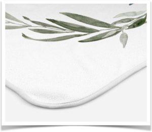 Летнее одеяло с изображением ветки эвкалипта