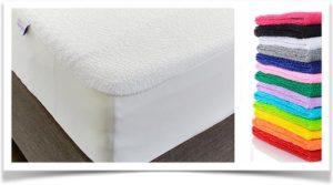 Разноцветные махровые простыни