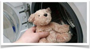Стирка медведя в стиральной машине