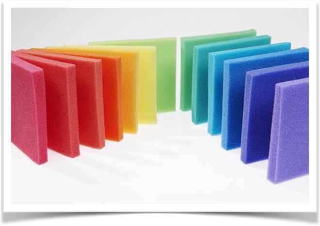 Разноцветный поролон