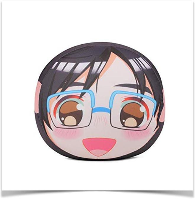 Подушка с изображением японской девушки