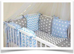 Подушки на бортики детской кроватке