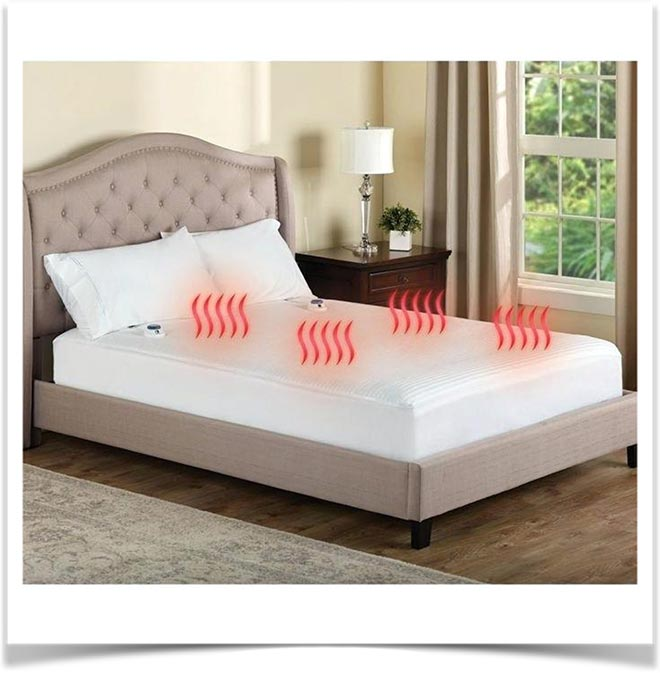 Матрас с подогревом на кровати в доме
