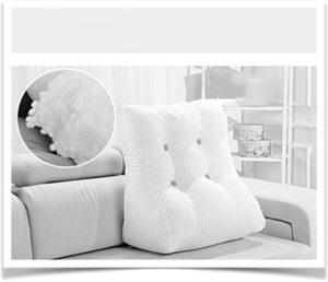 Холлофайбер в подушке-спинке на диване