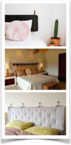 Разные варианты крепления подушек вместо спинки на кровать
