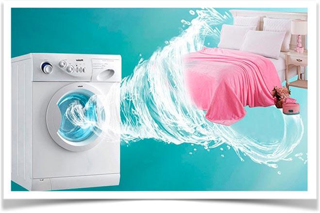 Стиральная машина и постельное белье