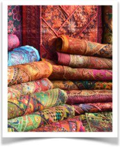 Палитра цветов восточных тканей